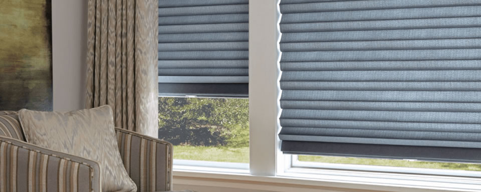 Honeycomb shades in Plano TX bedroom